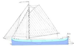 soort zeilend vrachtschip